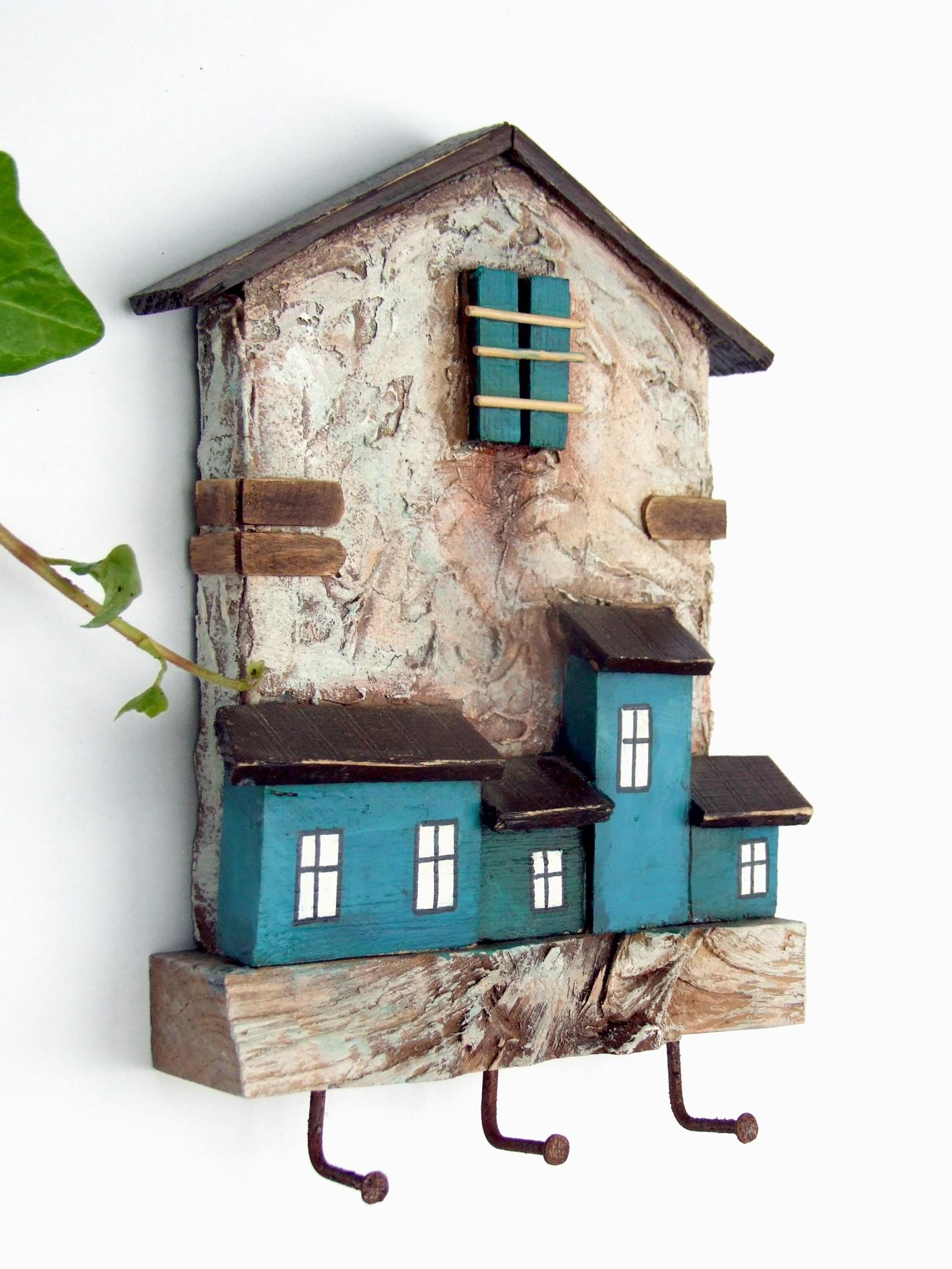 Drewniany wieszaczek - Domki