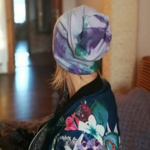 czapka unisex bawełniana ręcznie farbowana wiosenna sportowa