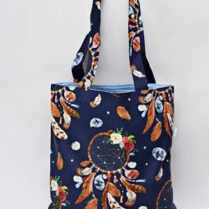 Torba na zakupy shopperka ekologiczna torba zakupowa na ramię eko siatka łapacz snów