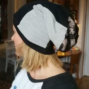 czapka wiosenna damska rozmiar uniwersalny HANDMADE