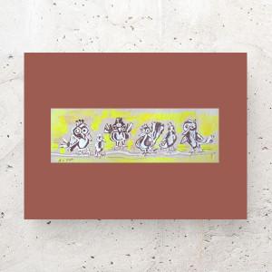 ptaszek plakat na ścianę, ładny plakat dla dzieci, obrazek z ptaszkiem, grafika do dziecięcego pokoju