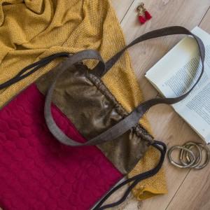 Plecak torba 2w1 z pikowanym przodem