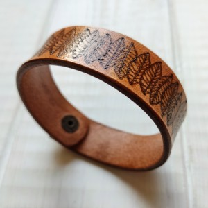 Skórzana bransoletka wzór 4