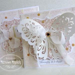 Kartka ślubna Ażurowy Motyl