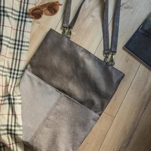 Duża zamszowa torba na ramię