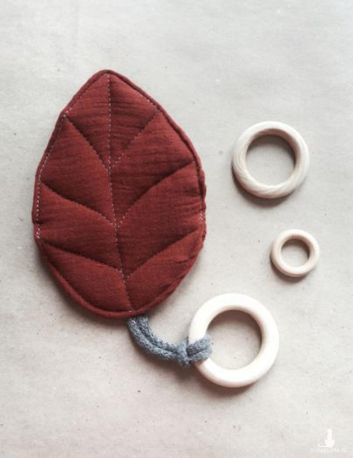 szelistek - gryzak sensoryczny, drewniany gryzak, wkład szeleszczący