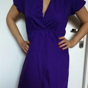sukienka nietoperzowa fioletowa rozmiar m