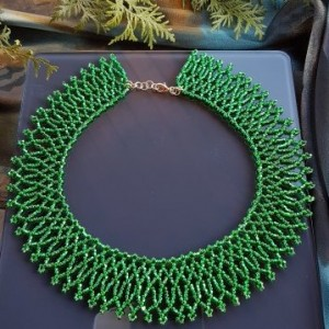 Naszyjnik Krywulka zielona