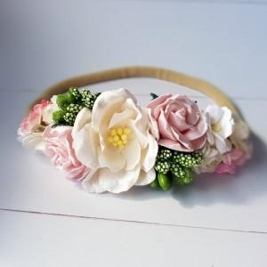 Opaska z kwiatków papierowych