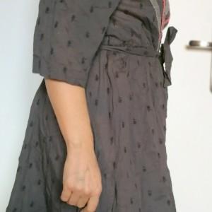 Kopertówka sukienka KappAhl szara wiosenno- letnia