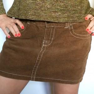 Spódnica sztruksowa mini rozmiar 40