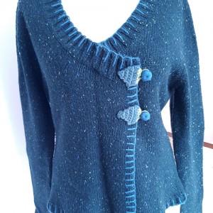sweter PROMOD, boho, stan idealny