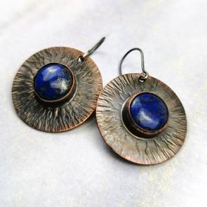Lapis lazuli na miedzianych tarczach c854-3