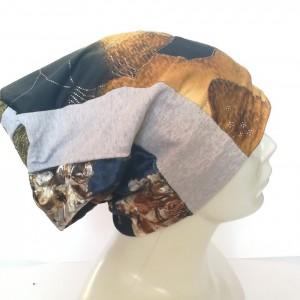 czapka patchworkowa etno boho wiosenna damska