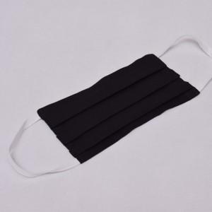 Maseczka dwuwarstwowa wielorazowa bawełniana maska na twarz rozm S/M/L czarna