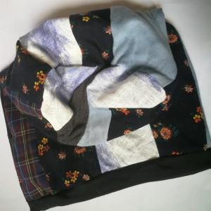 czapka wiosenna etno boho patchwork na podszewce