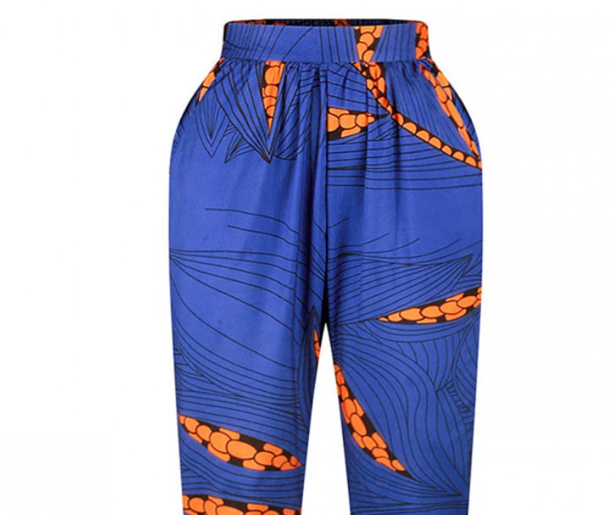 spodnie typu alladyny styl afrykański rozmiar M