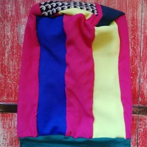 czapka damska wiosenna patchworkowa