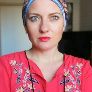 czapka damska boho kolorowa smerfetka wiosenna
