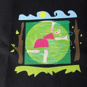 """Bawełniana torba na zakupy z nadrukiem autorskiej grafiki """"Kobieta"""""""