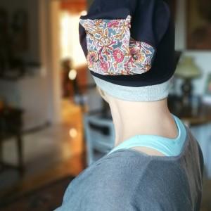 czapka damska wiosenna uniwersalna bez podszewki dzianinowa