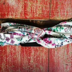 opaska turbanowa w kwiaty wiosenna