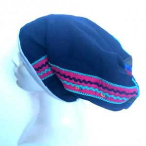 czapka damska wiosenna smerfetka folk boho