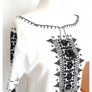 biała bluzka z haftem folkowa folk