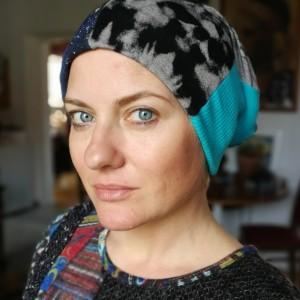 czapka damska etno boho wiosenna szyta patchworkowo