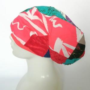 czapka damska smerfetka szyta patchworkowy