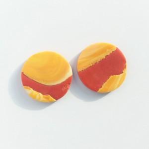 sztyfty koła ceglany z żółtym marmurkiem
