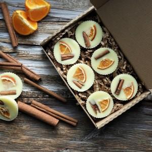 Naturalne woski sojowe Cynamon z Pomarańczą