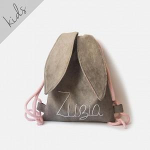 Mini plecak królik z imieniem Zuzia