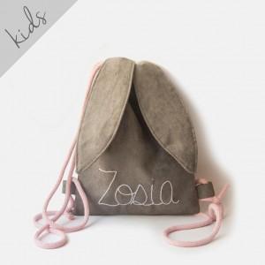 Mini plecak królik z imieniem Zosia