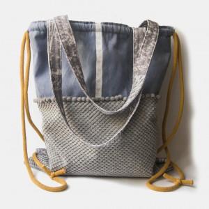 Plecak torba 2w1 z pomponami