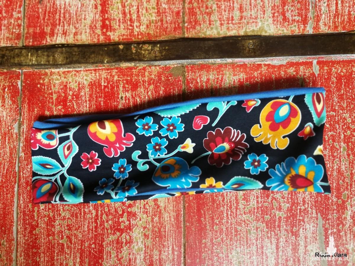 opaska damska kolorowa handmade