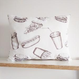 Poduszka fast-food patchwork