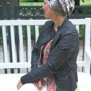 czapka damska na podszewce handmade