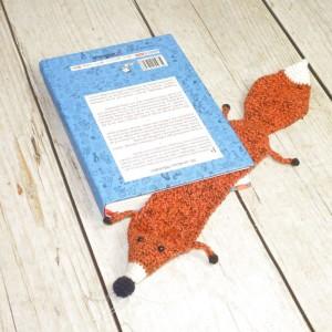 Zaczytany lis- zakładka do książki