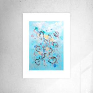 nowoczesna grafika na ścianę, abstrakcyjny rysunek,  abstrakcja do sypialni
