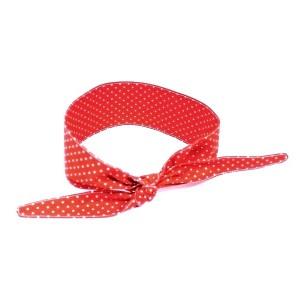 Opaska pin up retro Czerwona w białe kropeczki