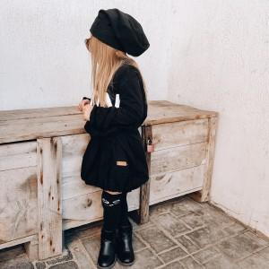 Sukienka dziewczęca czarna bombka