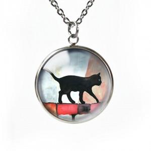BLACK CAT naszyjnik