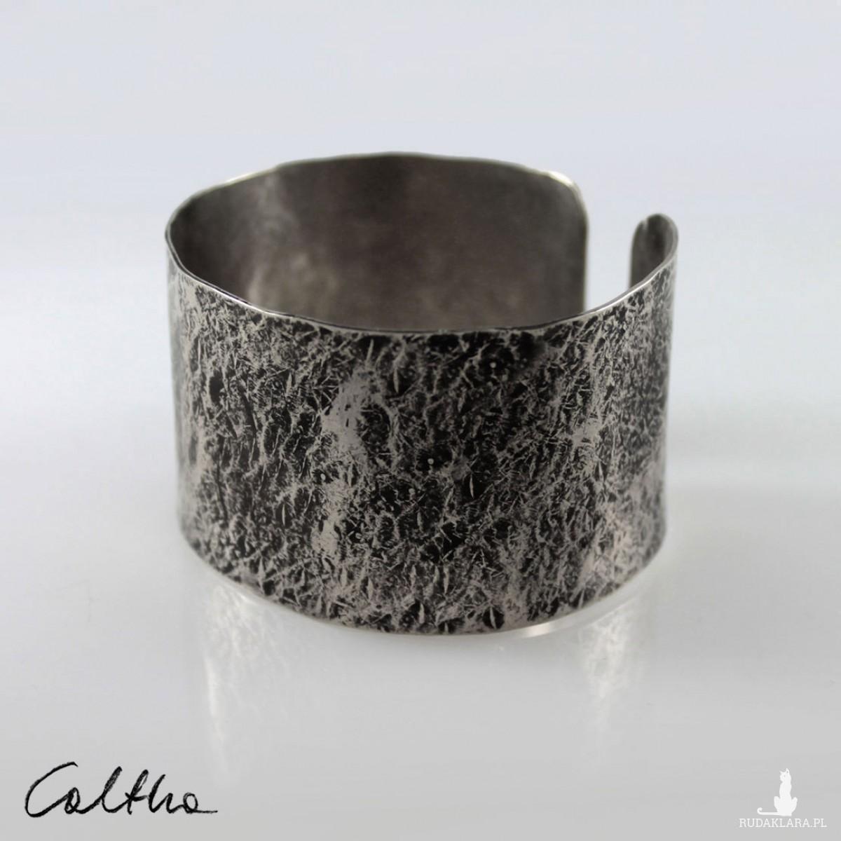 Kamień - metalowa bransoletka szeroka 200611-01