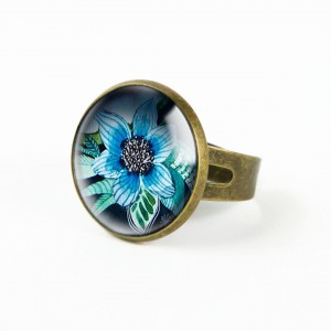 BLUE FLOWER pierścionek