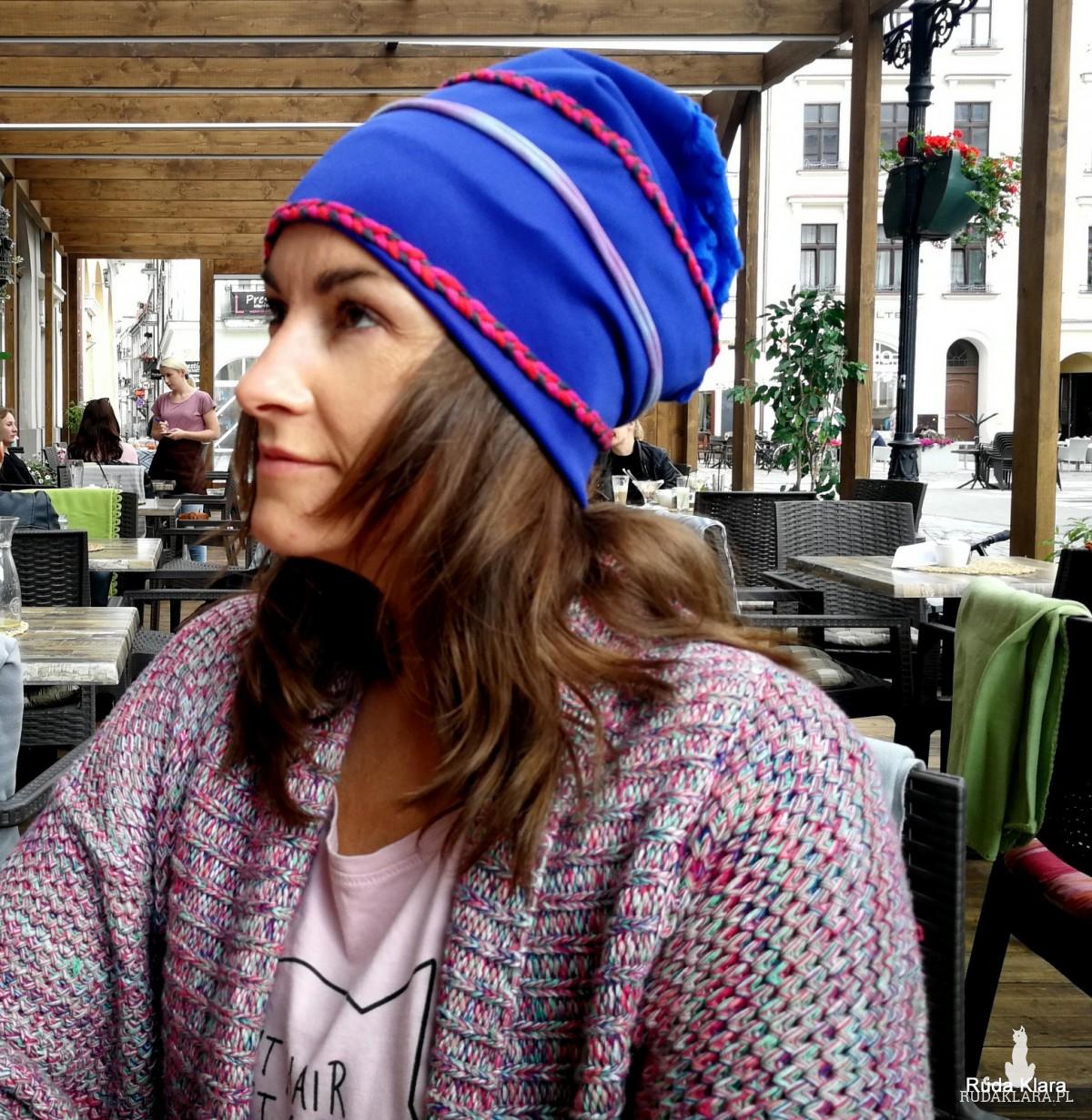 czapka damska etno boho kolorowa