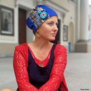 czapka damska wiosenna na podszewce