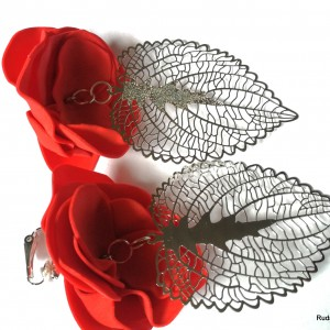 klipsy kwiatowe duże lekkie