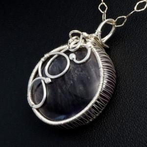 Ametyst, srebrny wisior z ametystem, pomysł na prezent, prezent dla mamy, prezent urodzinowy, handmade
