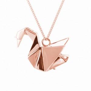 SWAN- różowe złoto